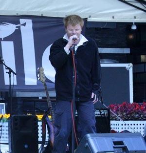 Phillip Chalker performing in Melbourne