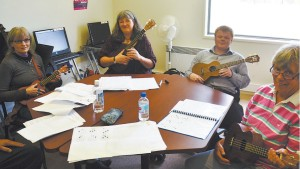 Uklaimers Ukulele Workshops photo courtesy LV Express